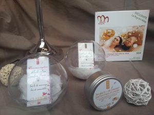 huile de massage bio et comestible